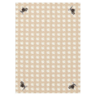 Lowchen on Tan Leaves Starburst Tablecloth