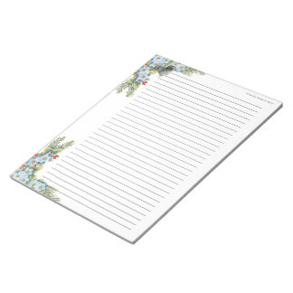Lowchen on Winter Floral [lined] Notepad