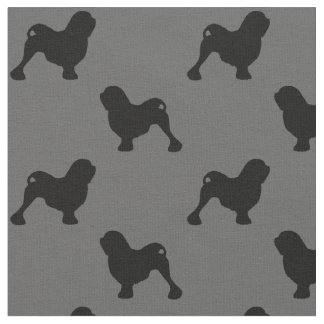 Lowchen Silhouettes Pattern Fabric