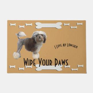 Lowchen, Wipe Your Paws with Dog Bones Doormat