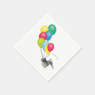 Lowchen with Balloons Disposable Napkins