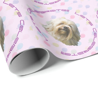 Lowchen with Balloons Wrapping Paper