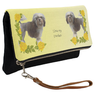 Lowchen with Yellow Roses Clutch