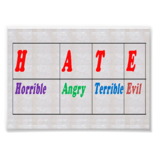 LowCost DECORATIONS on KODAK Paper : Text HATE Photo