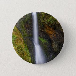 Lower Butte Creek Falls in Fall Season 2 Inch Round Button