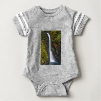 Lower Butte Creek Falls in Fall Season Baby Bodysuit