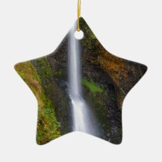 Lower Butte Creek Falls in Fall Season Ceramic Ornament