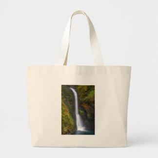 Lower Butte Creek Falls in Fall Season Large Tote Bag