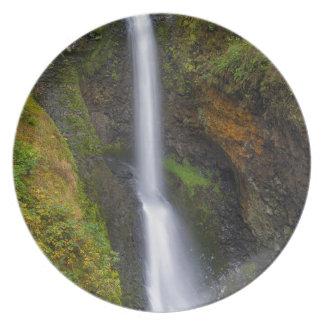 Lower Butte Creek Falls in Fall Season Plate