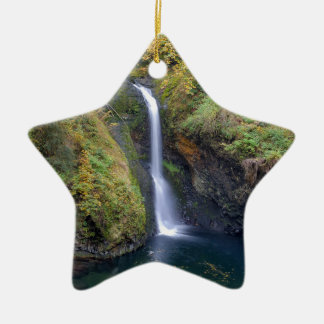 Lower Butte Creek Falls Plunging into a Pool Ceramic Ornament