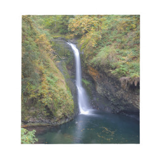 Lower Butte Creek Falls Plunging into a Pool Notepad