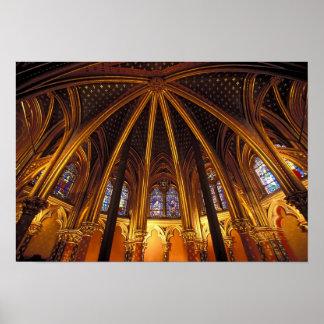 Lower chapel of La Sainte-Chapelle, Paris, Poster