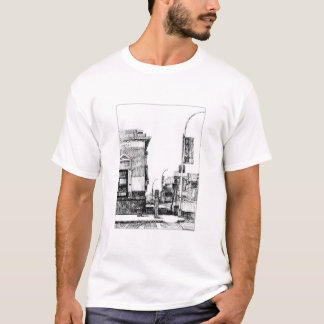 """Lower East Side Corner"" by Fred Gates T-Shirt"