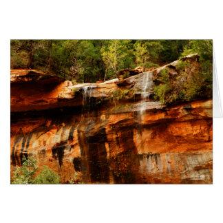 Lower Emerald Pools Zion National Park Utah Blank Card