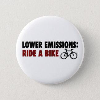 Lower Emissions Ride A Bike 2 Inch Round Button