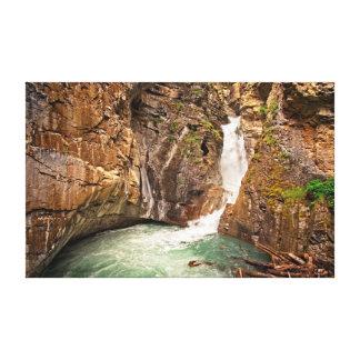 Lower Falls at Johnston Canyon Canvas Print