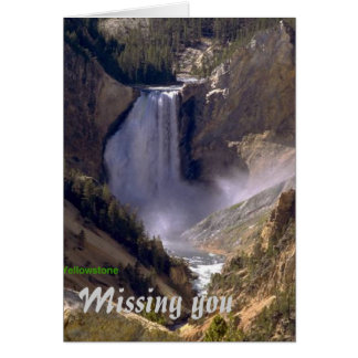 Lower-Falls-Yellowstone, Missing you greeting card