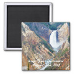 Lower Falls, Yellowstone Park, WY Square Magnet