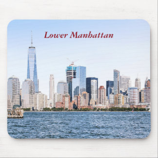 Lower Manhattan Color Sketch Mousepad