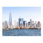 Lower Manhattan Colour Sketch Postcard