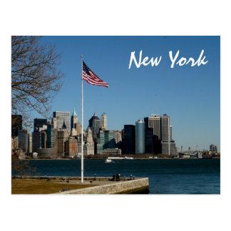 Lower Manhattan from Ellis Island Postcard