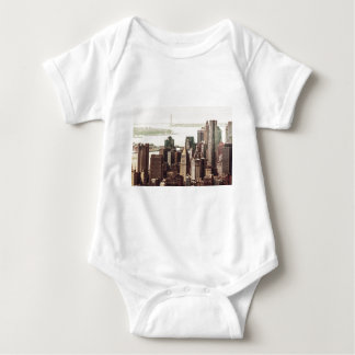 Lower Manhattan Skyline - View from Midtown Baby Bodysuit