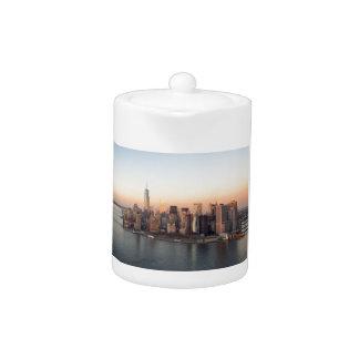 Lower Manhattan Sunset WTC Freedom Tower NYC