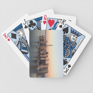 Lower Manhattan Sunset WTC Freedom Tower NYC Bicycle Playing Cards