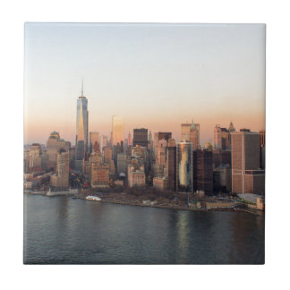 Lower Manhattan Sunset WTC Freedom Tower NYC Ceramic Tile