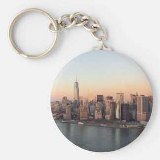 Lower Manhattan Sunset WTC Freedom Tower NYC Keychain