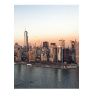 Lower Manhattan Sunset WTC Freedom Tower NYC Letterhead