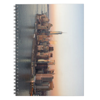 Lower Manhattan Sunset WTC Freedom Tower NYC Notebook
