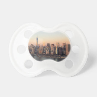 Lower Manhattan Sunset WTC Freedom Tower NYC Pacifier