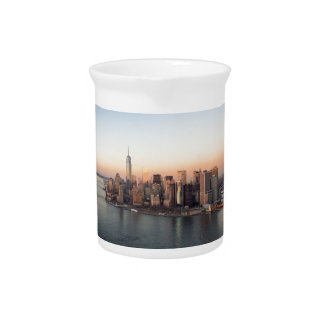 Lower Manhattan Sunset WTC Freedom Tower NYC Pitcher
