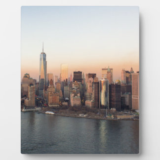 Lower Manhattan Sunset WTC Freedom Tower NYC Plaque