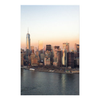 Lower Manhattan Sunset WTC Freedom Tower NYC Stationery