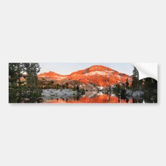Lower Ottoway Lake Sunset - Yosemite Bumper Sticker