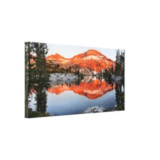 Lower Ottoway Lake Sunset - Yosemite Canvas Print