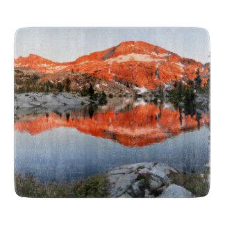Lower Ottoway Lake Sunset - Yosemite Cutting Board