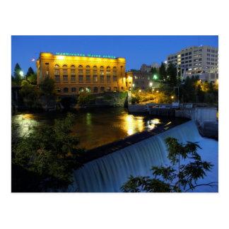 Lower Spokane Falls and Washington Water Power. Postcard