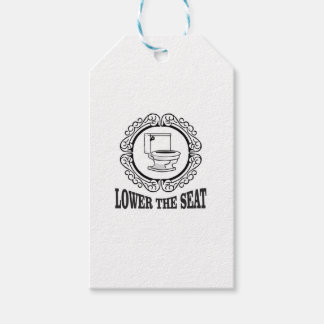 lower the seat pack of gift tags