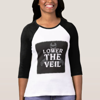 Lower the Veil Ladies 3/4 Sleeve Tee-LARGE T-Shirt