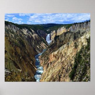 Lower Yellowstone Falls, Yellowstone National Park Poster