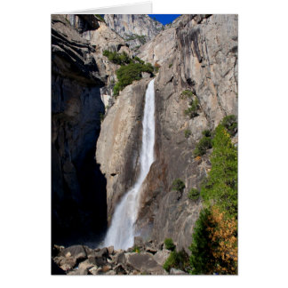 Lower Yosemite Falls from Bridge (Custom Message) Card