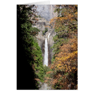 Lower Yosemite Falls in November (Custom Message) Card
