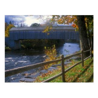 Lowes Covered Bridge Guilford Sangerville Maine Postcard