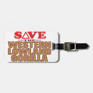 Lowland Gorilla Save Bag Tag