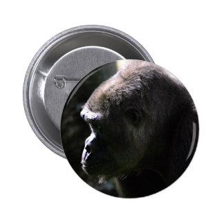 Lowland Western Gorilla 2 Inch Round Button