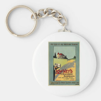 Lowney's Cocoa Basic Round Button Keychain