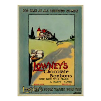 Lowney's Cocoa Poster